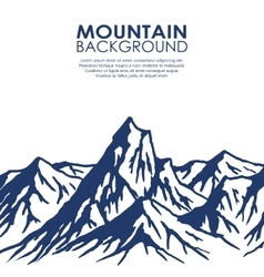 Mountain range isolated on white background vector image