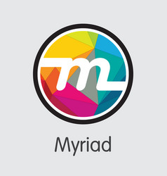 Myriad cryptocurrency vector