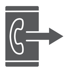 outgoing call line icon smartphone and ring vector image