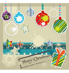 paper craft christmas vector image