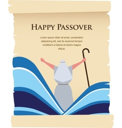 Passover invitation on acient card vector