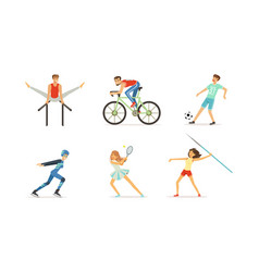 people doing different kind sports set vector image
