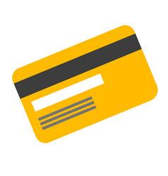 plastic gold card cartoon vector image