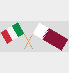 Qatar and japan the qatari and japanese flags vector