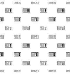 Retro digital clock pattern seamless vector