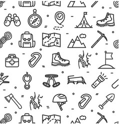 rock climbing sign seamless pattern background on vector image