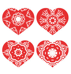 Romantic red heart set vector