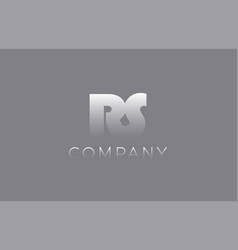 Rs r s pastel blue letter combination logo icon vector