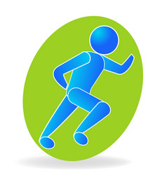 running man health icon symbol vector image