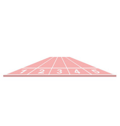 Running track in pink design vector