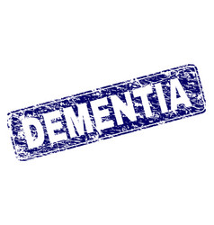 scratched dementia framed rounded rectangle stamp vector image