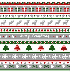 seamless christmas pattern for decoration vector image