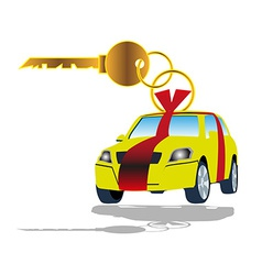 Sell car key vector image
