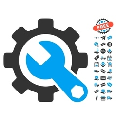 Service Tools Icon With Free Bonus vector