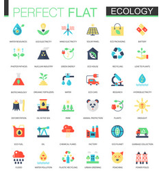 set of flat green technology and ecology vector image