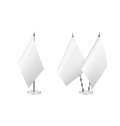 Small table flag set isolated on white vector