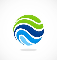 sphere ecology water communication logo vector image