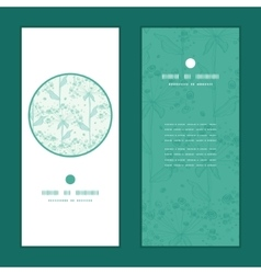 Summer line art dandelions vertical round vector