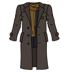 the funny brown long coat vector image