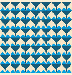 tile pattern with blue hearts on pastel background vector image