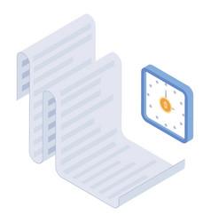 Timesheet vector