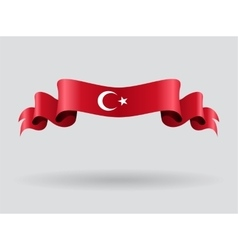 Turkish wavy flag vector image