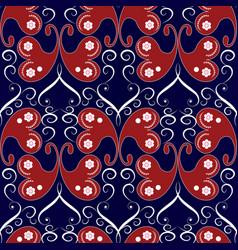 Vintage butterflies seamless pattern blue floral vector