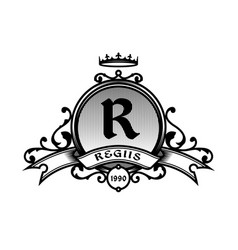 Vintage emblem with a place for your text vector