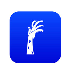 zombie hand icon digital blue vector image