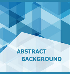 abstract blue hexagon template background vector image vector image