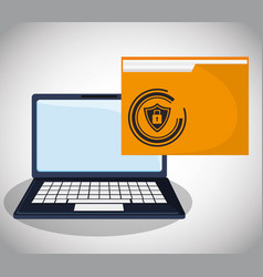 cyber security confidential information folder vector image vector image