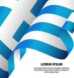 Greece Hellenic Republic Waving Flag Background vector image
