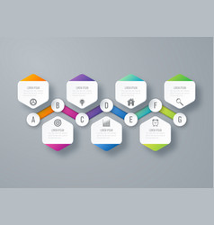 infographic business concept with 7 options vector image