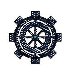 Intricate gear icon image vector