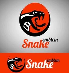 snake emblem vector image vector image