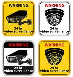 surveillance cameras 09 vector image vector image