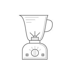 Thin line kitchen blender vector