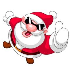 thumb up santa vector image vector image