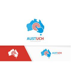 australia and click logo combination vector image vector image