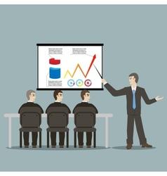 flat design style cartoon meeting businessman vector image