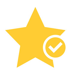 Flat star icon favorite sign bookmark button vector