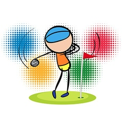 Olympics theme with golf player vector image vector image