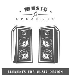 professional music speaker vector image vector image