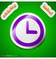 Alarm clock icon sign Symbol chic colored sticky vector image vector image