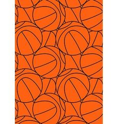 Basketball repeat pattern vector
