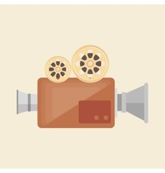camera film vintage recorder movie vector image