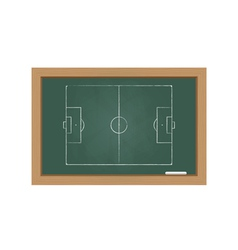 Chalkboard with a football field vector image vector image
