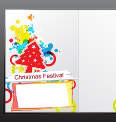 christmas celebration brochure design vector image