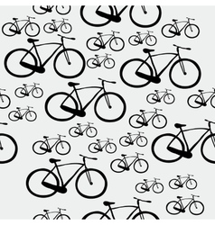 Pattern bicycle vector image