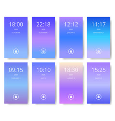 set of modern user interface ux ui screen vector image